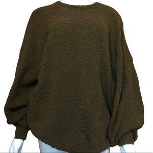 Vintage John Weitz Cotton USA Grandpa Knit Sweater XL